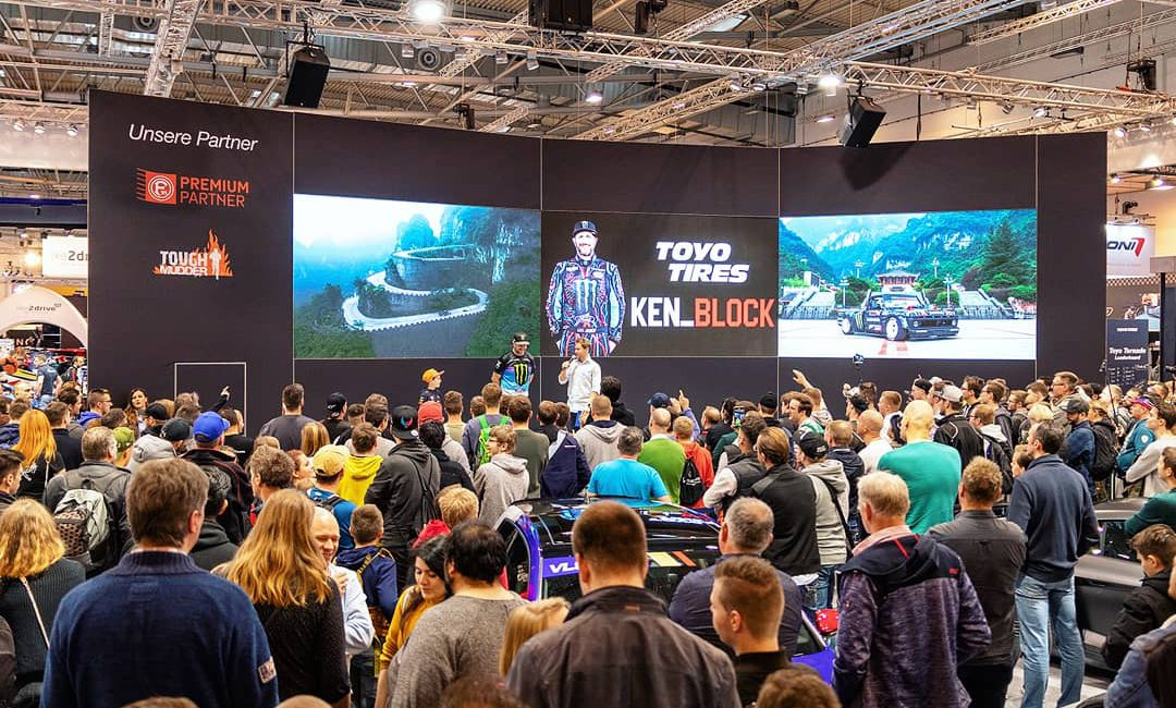 Essen Motor Show Ken Block Moderator Tobias Witton Entertainer Interview