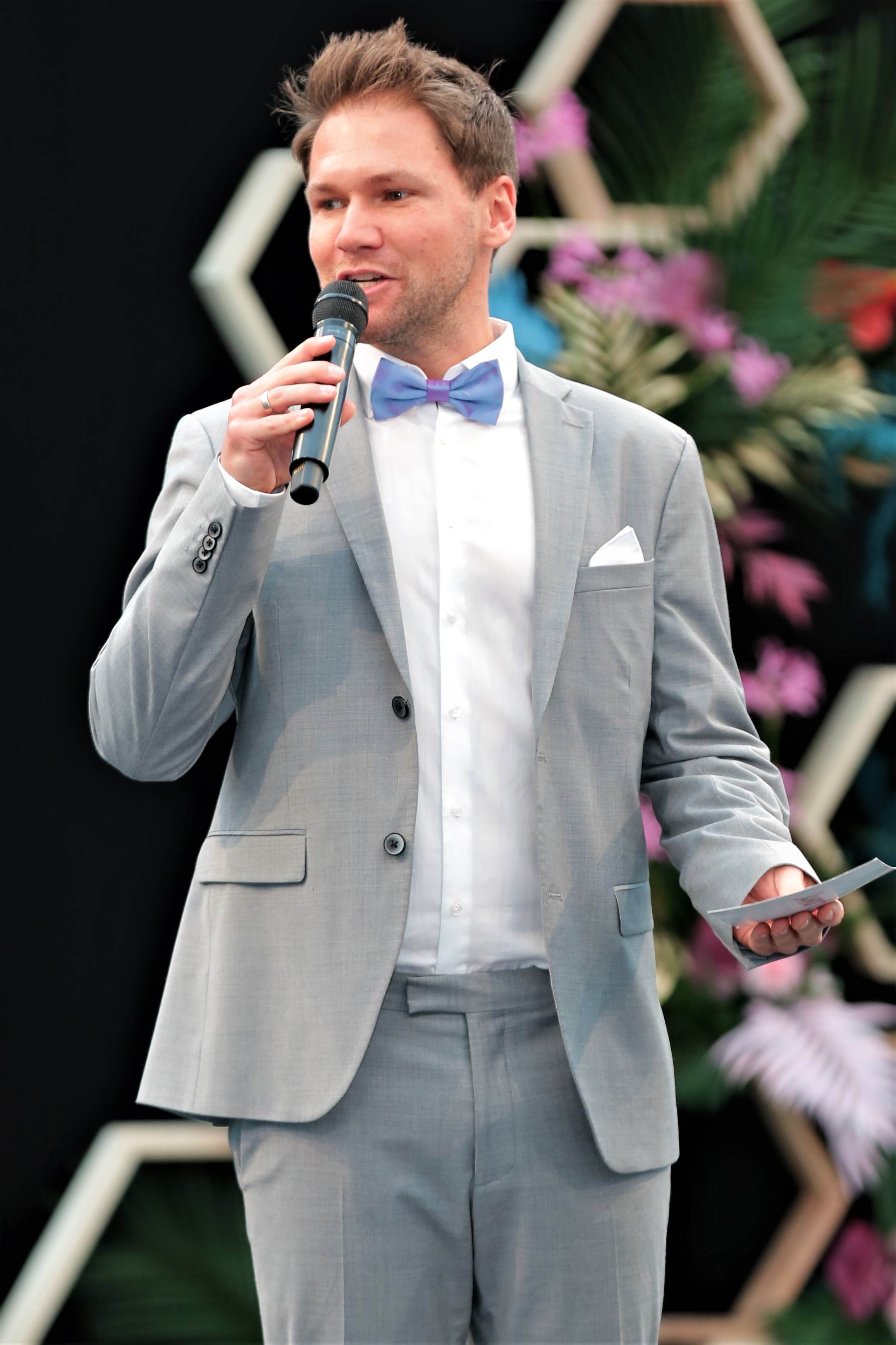 Moderator Mode Gala Modenshow Fashionshow Hochzeitsmesse Leipzig Tobias Witton Host